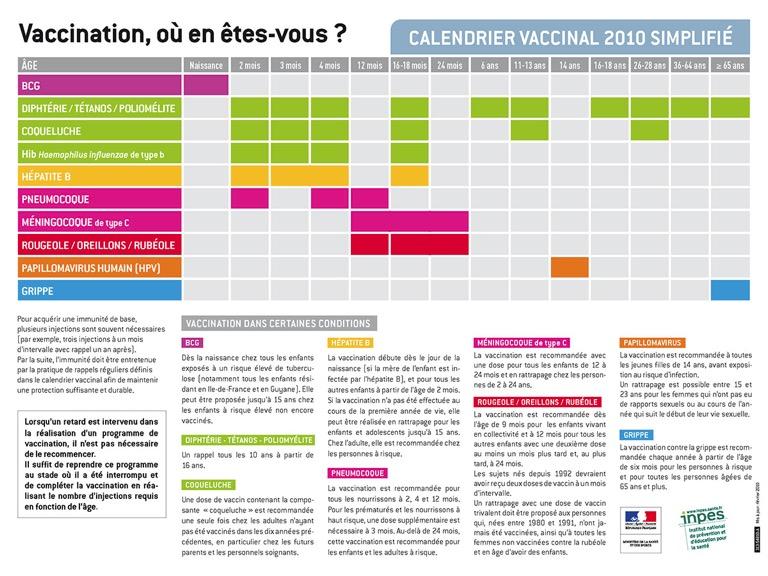 Calendrier vaccinal 2010 | Blog